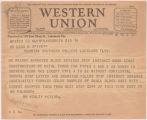 [Telegram] 1939 April 18, Spring Green, Wis. [to] Dr. Ludd M. Spivey, Lakeland, Fla.